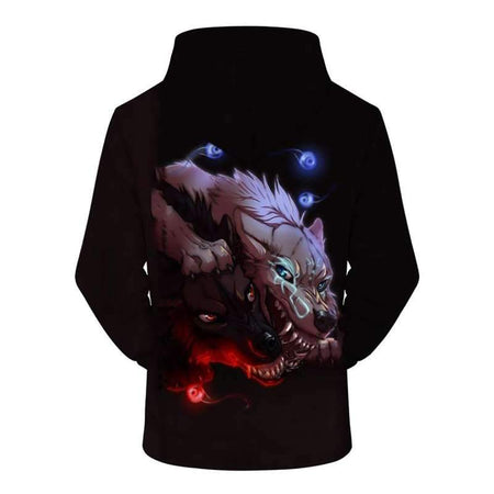 sweat shirt loup homme dos