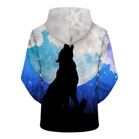 sweat shirt loup lune dos