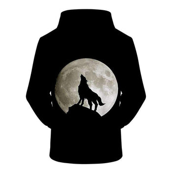 sweat shirt loup noir dos