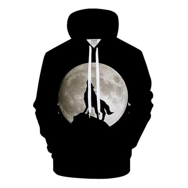 sweat shirt loup noir