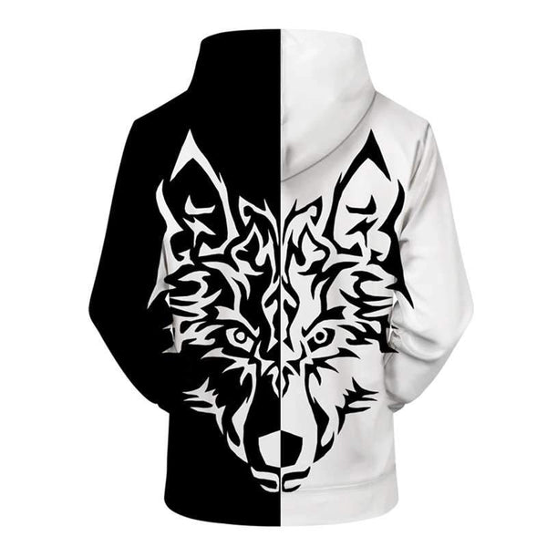 sweat shirt motif loup tribal