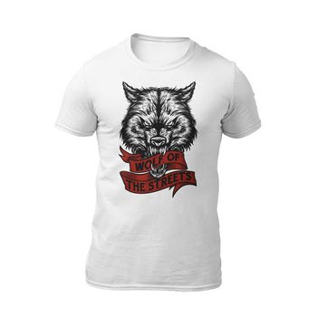 t-shirt blanc wolf of the streets