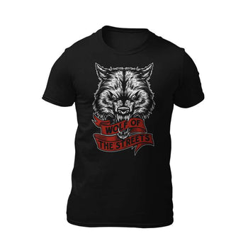 t-shirt noir wolf of the streets
