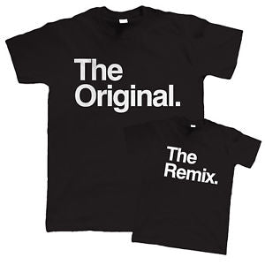 Parent and Child Sets - The Original & Remix T-Shirt Set