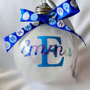 Light-up Personalised Christmas Baubles