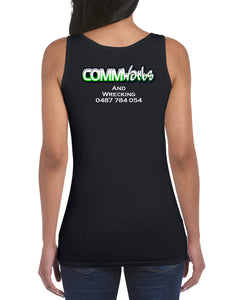 Commworks Ladies Singlet Top - Thick Straps