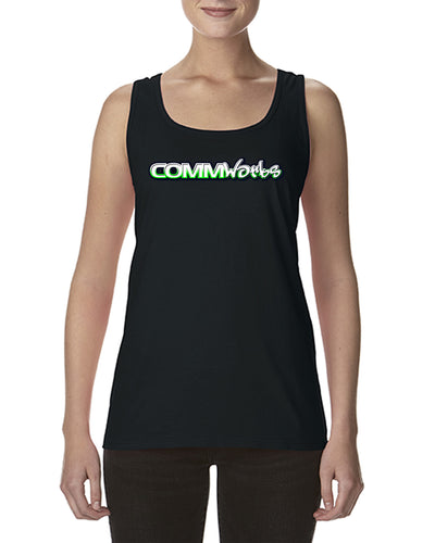 Commworks Ladies Singlet Top - Razor Back