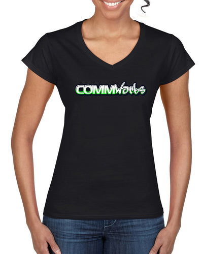 Commworks Ladies V Neck T-Shirt