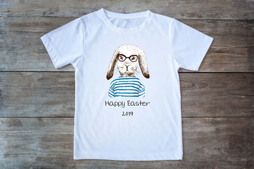 Hipster Easter Bunny T-Shirt - Adult