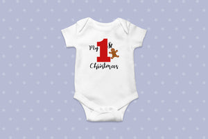 First Christmas Onesie (red)