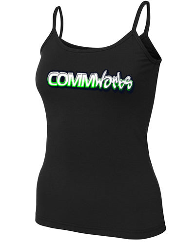 Commworks Ladies Singlet Top - Spaghetti Strap