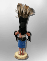 Navajo Handmade Painted Aspen Wood 3'' Inch Apache Crown Dancer Kachina Doll - Kachina City
