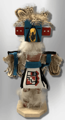 Handmade Painted Aspen Wood Six 6'' Inch Eagle Dancer Kachina Doll