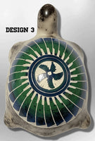 Handmade Indian Native Navajo Clay with Horse Hair Small Turtle Colored Shell Shape Pottery - Kachina City