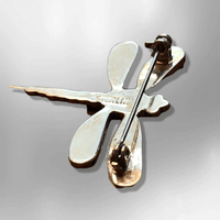 Sterling Silver Inlay Handmade Dragonfly Shape Multi Stone with Opal Pin - Kachina City