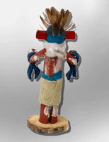 Navajo Handmade Painted Aspen Wood 3'' Inch Lizard Kachina Doll - Kachina City