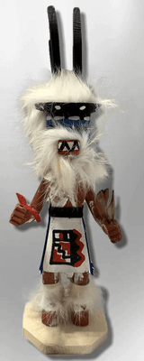 Handmade Painted Aspen Wood Six 6'' Inch Antelope Kachina Doll