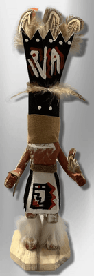 Handmade Painted Aspen Wood Six 6'' Inch Apache Dancer Kachina Doll