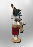 Navajo Handmade Painted Aspen Wood 3'' Inch Black Ogre Kachina Doll - Kachina City