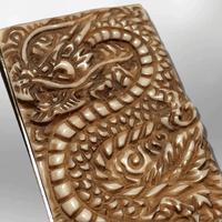 Stainless Steel Bone Carved Handmade No Paint Full Dragon Body Detailed Money Clip - Kachina City