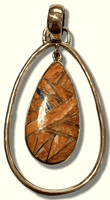 Bronze Handmade Inlay Different Stones Teardrop Hollow Breathable Pendant - Kachina City