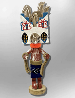 Navajo Handmade Painted Aspen Wood 3'' Inch Butterfly Kachina Doll - Kachina City