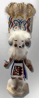 Handmade Painted Aspen Wood Six 6'' Inch Butterfly Kachina Doll - Kachina City
