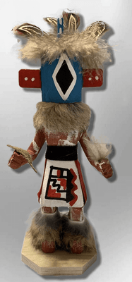 Handmade Painted Aspen Wood Six 6'' Inch Chasing Star Kachina Doll