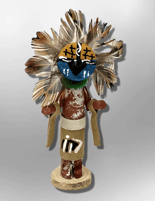 Navajo Handmade Painted Aspen Wood 3'' Inch Chief Dancer Kachina Doll
