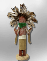 Navajo Handmade Painted Aspen Wood 3'' Inch Chief Dancer Kachina Doll - Kachina City