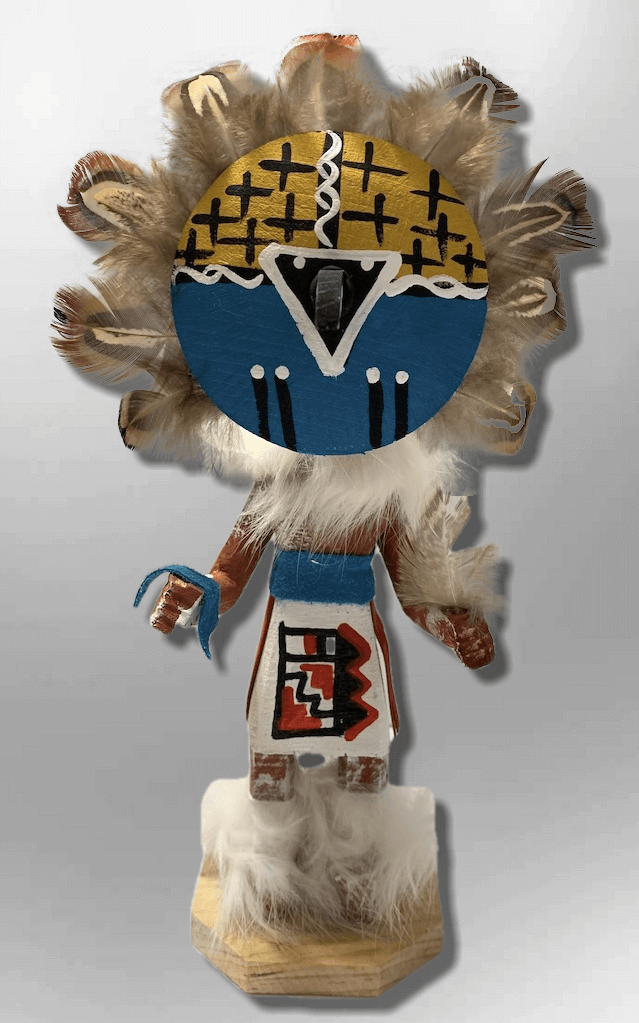 Handmade Painted Aspen Wood Six 6'' Inch Chief Dancer Kachina Doll - Kachina City