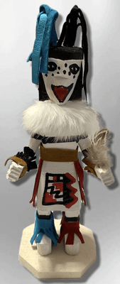 Handmade Painted Aspen Wood Six 6'' Inch Clown Kachina Doll