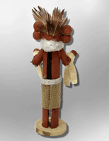 Navajo Handmade Painted Aspen Wood 3'' Inch Corn Maiden Kachina Doll - Kachina City