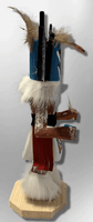 Handmade Painted Aspen Wood Six 6'' Inch Crow Mother Kachina Doll - Kachina City