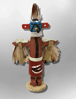 Navajo Handmade Painted Aspen Wood 3'' Inch Eagle Kachina Doll