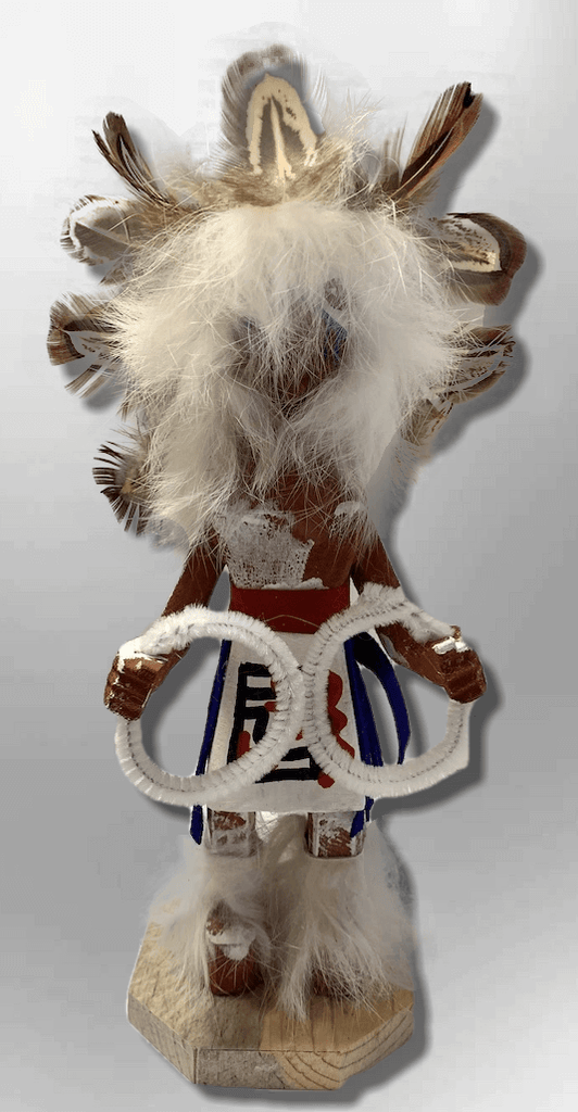 Handmade Painted Aspen Wood Six 6'' Inch Hoop Dancer Kachina Doll - Kachina City