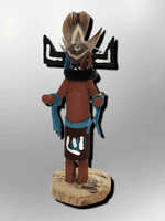 Navajo Handmade Painted Aspen Wood 3'' Inch Hototo Kachina Doll - Kachina City