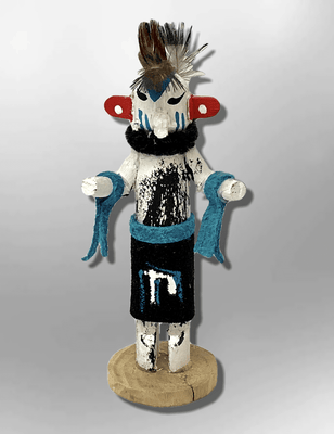 Navajo Handmade Painted Aspen Wood 3'' Inch Hummingbird Kachina Doll