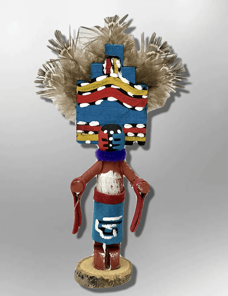 Navajo Handmade Painted Aspen Wood 3'' Inch Jemez Kachina Doll - Kachina City