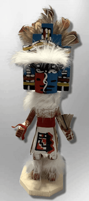Handmade Painted Aspen Wood Six 6'' Inch Jemez Kachina Doll