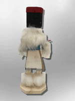 Navajo Handmade Painted Aspen Wood Six Inch Left Hand with Mask Kachina Doll - Kachina City