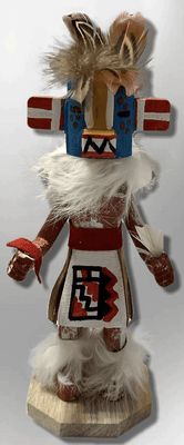 Handmade Painted Aspen Wood Six 6'' Inch Lizard Kachina Doll