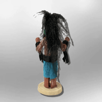 Navajo Handmade Painted Aspen Wood 3'' Inch Long Hair Kachina Doll - Kachina City