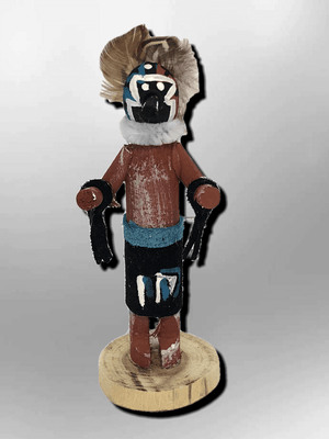 Navajo Handmade Painted Aspen Wood 3'' Inch Old Man Kachina Doll