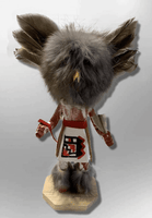 Handmade Painted Aspen Wood Six 6'' Inch Owl Kachina Doll - Kachina City