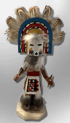 Handmade Painted Aspen Wood Six 6'' Inch Rainbow Kachina Doll
