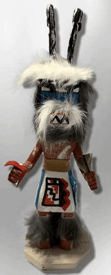 Handmade Painted Aspen Wood Six 6'' Inch Ram Kachina Doll