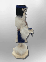 Navajo Handmade Painted Aspen Wood Six Inch Red Tail Hawk with Mask Kachina Doll - Kachina City