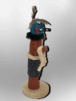 Navajo Handmade Painted Aspen Wood 3'' Inch Roadrunner Kachina Doll - Kachina City