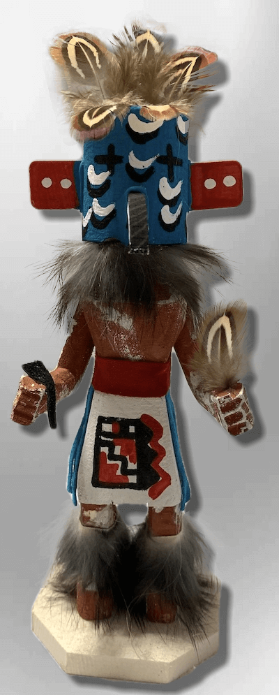 Handmade Painted Aspen Wood Six 6'' Inch Roadrunner Kachina Doll - Kachina City